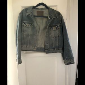 All saints distressed denim jacket